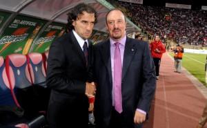 Paolo Magnani con l'attuale allenatore del Napoli Rafa Benitez